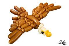 Sculpture de ballons aigle / Balloon twist eagle