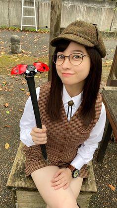 Hashimoto Kanna, School Girl Outfit, Girls With Glasses, Beautiful Asian Girls, Japanese Girl, Live, Girl Photos, Ulzzang, Kawaii