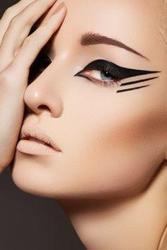 Dramatic eyeliner.