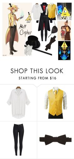 """""""Bill Cipher (Gravity Falls)"""" by skylar-promer-357 ❤ liked on Polyvore featuring GALA"""
