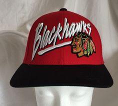 c5b6bbc9fe7407 Chicago Blackhawks NHL Hockey Hat Red Cap Old Time Hockey Snap Back  Playoffs #OldTimeHockey #