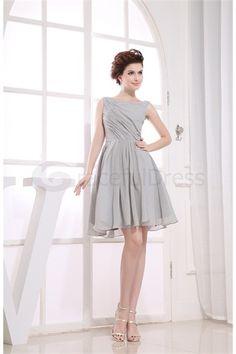 Mini Satin Bateau Petite Sleeveless Bridesmaid Dress http://www.GracefulDress.com/Mini-Satin-Bateau-Petite-Sleeveless-Bridesmaid-Dress-p19411.html