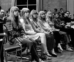 So many pretty dollies - Left to Right: Cynthia Powell, Jane Asher, Jenny Boyd, Marianne Faithful, Pattie Boyd