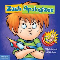 This book teaches the kids the four parts to an apology.