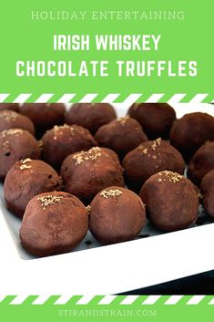 Bake It: Irish Whiskey Truffles with Baileys Crystals Easy Cocktails, Cocktail Recipes, Drinks, Kinds Of Desserts, Fun Desserts, Healthy Recipe Books, Healthy Recipes, Whiskey Chocolate, Dessert Cake Recipes