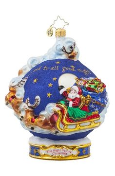 Christopher Radko 'To All a Good Night' Santa Globe Ornament available at #Nordstrom