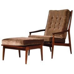 Milo Baughman Archie Chair & Ottoman   1stdibs.com