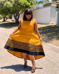 LOVELY XHOSA DRESSES not only are beautiful but believed to boost a ladies confidence an event, IT can make a lady feel glamorous African Attire For Men, African Dresses For Women, African Print Dresses, African Print Fashion, Africa Fashion, African Fashion Dresses, African Clothes, African Prints, African Traditional Wear