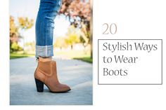 In preparation for fall and the gorgeous, cozy fall outfits, 20 stylish ways to wear boots. (Fall, the best time of the year!) The outfit possibilities with boots are endless.