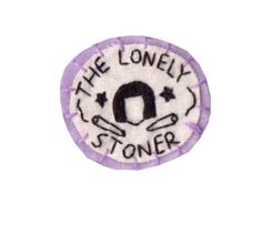 The Lonely Stoner 1/3 Circle Patch by Hanecdote on Etsy, £5.00