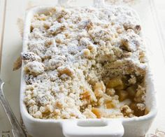 Apfel-Crumble - All Recipes Apple Recipes For Kids, Apple Crisp Recipes, Baking Recipes, Cake Recipes, Dessert Recipes, Sweet Bakery, Sweets Cake, Eat Smarter, Food Cakes