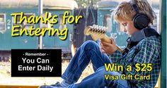 New contest every week. Win $25 Visa Gift Card just for entering a comment....