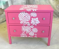 Cómo decorar un mueble con plantillas o stencil   Mil Ideas de Decoración