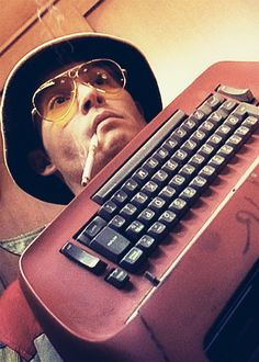 wild man, Johnny Depp as Hunter S. Thompson in Fear and Loathing in Las Vegas Johnny Depp, Fear And Loathing, Movies Showing, Movies And Tv Shows, We All Mad Here, Hunter Thompson, Pier Paolo Pasolini, Terry Gilliam, Hunter S