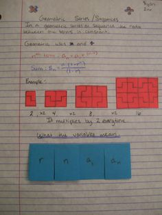 Interactive Notebook  Arithmetic And Geometric Sequence And