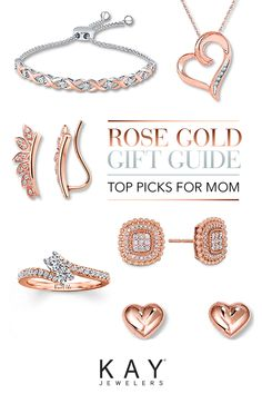 Warm Mom's heart with beautiful rose gold picks. Whether you're looking for a classic rose gold ring or a diamond-accented bolo bracelet, you're sure to find gorgeous jewelry that's as breathtaking as she. Find a style for every mom and every budget at Kay.