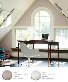 Sandlot Gray 2107-50 offers a fresh take on a neutral look. Perfect for an office space.