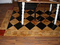 Painted linoleum rug Paint Linoleum, Painted Floors, Metal Roof, Home Projects, Flooring, Architecture, Rugs, Decorating Ideas, Craft Ideas