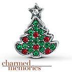 Charmed Memories Christmas Tree Charm Sterling Silver
