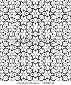 Seamless geometric line pattern in arabian style, ethnic ornament. Endless hexagonal lace texture for wallpaper, banners, invitation cards. Black and white abstract graphic background