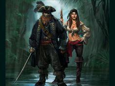 m Pirate Capt f npc sailor pirate jungle Pirates by ~TheBeke on deviantART Pirate Queen, Pirate Art, Pirate Woman, Pirate Life, Pirate Theme, Pirate Ships, Lady Pirate, Monkey Island, Pirates Cove