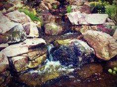 Waterfall created by Universal Aquatics in Snellville, GA. #WaterfallWednesday