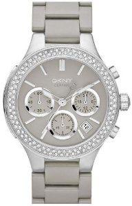 DKNY Ceramic Light Grey Dial Women's Watch #NY8470