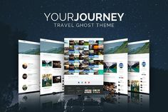 Your Journey - Ghost Travel Blog by wiloke on @creativemarket