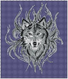 Wolf Afghan Crochet Graph Pattern By Alta's Crafts