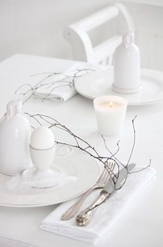 eggs from our hens for breakfast Table Setting Inspiration, Decoration Inspiration, All White, Pure White, Design Tradicional, White Books, White Cottage, Soft And Gentle, Duck Egg Blue
