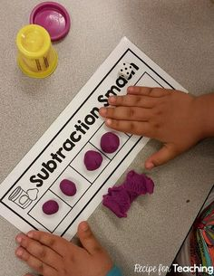 Free Subtraction Smash Mats Students Use Play-Doh To Subtract. Incorporates Three Versions Of The Subtraction Smash Mats To Differentiate Subtraction Kindergarten, Subtraction Activities, Preschool Math, Math Classroom, Teaching Kindergarten, Math Activities, Numeracy, Subitizing, Math Games