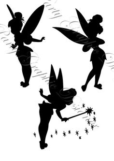 silhouette tinkerbell trilly disney
