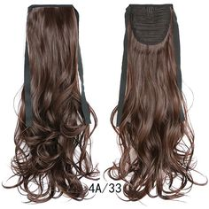 Synthetic Tie on Ponytail Hair Extension Curly Wave Solid Color Women Hair Cheer Ponytail, Wavy Ponytail, Ponytail Hair Extensions, Cheer Hair, Ponytail Extension, Ombre Hair Extensions, Ponytail Hairstyles, Fashion Idol, Fashion Women