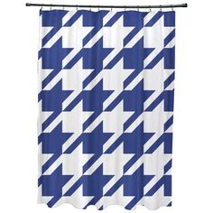 Houndstooth Geometric Pattern Shower Curtain ($80) ❤ liked on Polyvore featuring home, bed & bath, bath and shower curtains