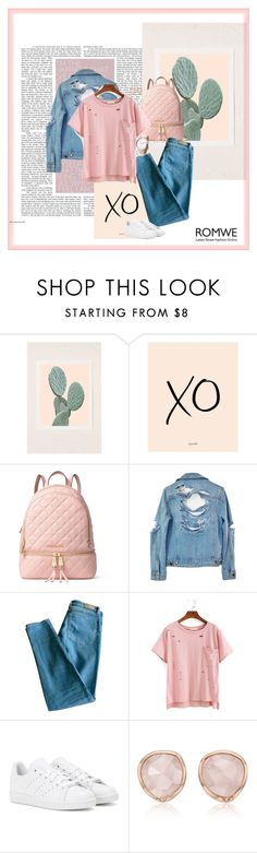 """Untitled #229"" by deboraoliveira-1 ❤ liked on Polyvore featuring Urban Outfitters, xO Design, MICHAEL Michael Kors, High Heels Suicide, Sandro, adidas and Monica Vinader"