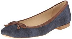 Stuart Weitzman Womens Shoestring Ballet Flat Navy 7 M US ** You can find out more details at the link of the image. Note:It is Affiliate Link to Amazon.