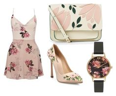Floral by bri23-1 on Polyvore featuring polyvore fashion style Lipsy Giambattista Valli Accessorize Olivia Burton clothing