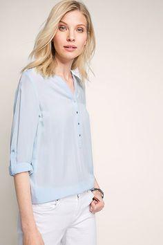 Esprit / flowing turn-up blouse