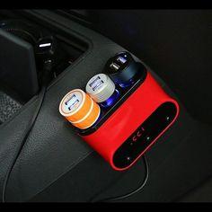 3 zócalo del cigarrillo del coche adaptador divisor del interruptor ligero con dos puertos usb