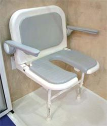 Handicapped Shower Seats Fold Up Shower Benches Wheelchair Accessible Shower Chairs & Possibly the safest way to get in and out of a bathtub ever! Multi ...
