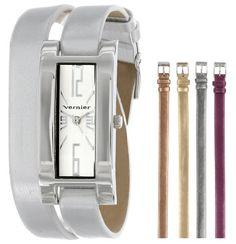 Vernier Women's VNR11127 Five Interchangeable Double Wrap Watch Vernier $29.99