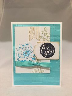 "Card Kit Set Of 4 Stampin Up Choose Happiness Music Embossed ""For You"" #StampinUp"