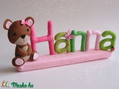 Hanna- filc névtábla (Jam81) - Meska.hu