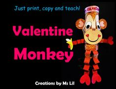 Celebrate Valentines Day and Chinese New Year all at once! Monkeys hanging from the ceiling or sitting on the shelf, your kiddos will love creating and putting on their own personal touches on these cuties.  Great for celebrating both Valentines Day and Chinese New Year.These units are designed in a Mix & Match format.