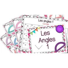 Les angles 1 - Cartes à tâches ! Math 5, 4th Grade Math, Fun Math, Math Games, Teaching Math, Montessori Math, Homeschool Math, Cycle 3, Angles