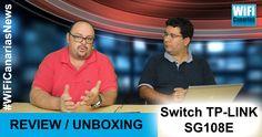 Nuevo #TecnoVideo #WiFiCanariasNews: Review del switch TP-LINK SG-108E, un pequeño dispositivo de 8 bocas, gestionable y de precio muy económico. Soporta VLAN, control de flujo, Jumbo Frames, IGMP snooping... en realidad, un gran dispositivo con un precio reducido...