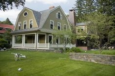 This wonderful gambrel roof home in Massachusetts has undergone a green renovation
