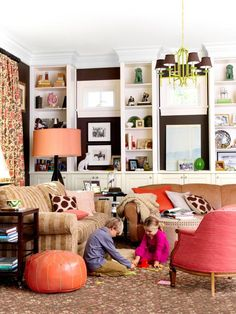 dark brown living room: Mixing Paint Colors and Patterns : Decorating : HGTV