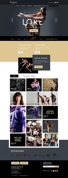 Bangarra Dance Theater on Web Design Served