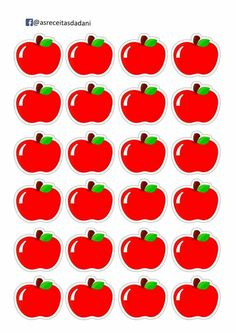 Easy DIY Learning games for Preschool Fruit Clipart, Snow White Birthday, Puzzles For Toddlers, School Labels, School Decorations, Apple Decorations, Shape Matching, Apple Theme, Kids Learning